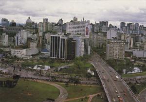 Aerial View of Rio Grande Do Sul, Port Alegre, Brazil 1960-70s