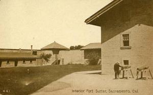 CA - Sacramento. Fort Sutter, Interior