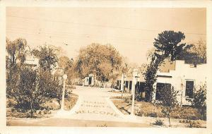 Maine Courts Welcome  Roadside Vacation Spot Real Photo RPPC Postcard