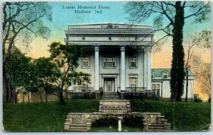 Madison, Indiana Postcard Lanier Memorial Home Front View Curteich c1930s