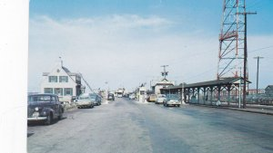 NORFOLK, Virginia, 1950-60s; Norfolk-Newport News Ferry Landing, Classic Cars