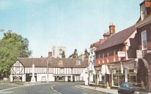 Natwest Bank & Hardware Store Memorial Corner Biggleswade 1970s Postcard
