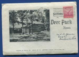 Deer Park Illinois LaSalle Ottawa Postcard Folder