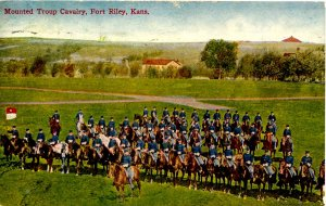 KS - Fort Riley. Mounted Troop Cavalry
