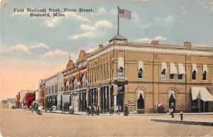 Brainerd Minnesota First National Bank Front Street Vintage Postcard JD933483