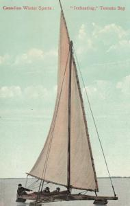 TORONTO, Ontario , 1906 ; Iceboating in bay