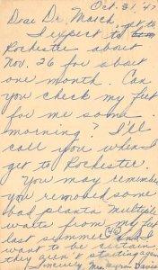 Dear Doctor Richland, Washington, USA Medical 1947