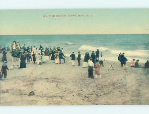 Divided-Back BEACH SCENE Cape May - Near Wildwood & Vineland New Jersey NJ G5881