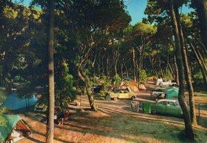 Viareggio Camping Tent Italian Postcard