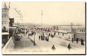 Old Postcard Trouville The Boardwalk and Cabins Bathroom