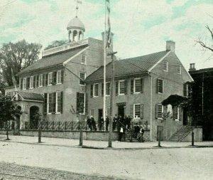 Vtg Postcard 1920s New Castle DE Delaware - The Old Court House - Unused