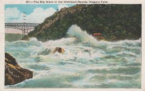 Big Wave in the Whirlpool Rapids - Niagara Falls NY, New York - pm 1934 - WB