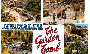 Israel Old Vintage Antique Post Card The Garden Tomb Jerusalem Writing on back