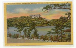 Lake Marcia, Showing state building, High Point Park, near Port Jervis, New Y...