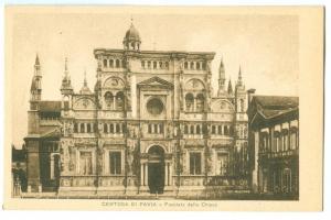 Italy, Certosa di Pavia, Facciata della Chiesa, early 1900s