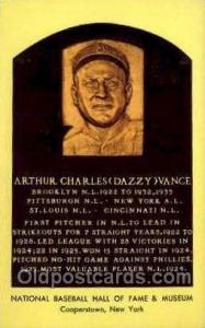 Arthur Charles Dazzy Vance Baseball Hall of Fame Card, Old Vintage Antique Po...
