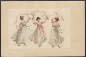 Three Women Dancing Postcard