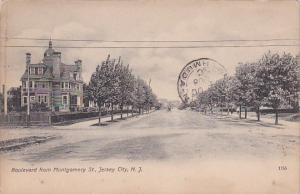 New Jersey Jersey City Boulevard From Montgomery Street Residential Section 1908