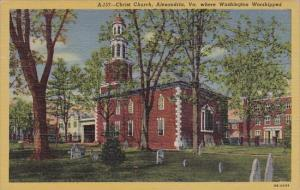 Christ Church Where Washington Worshipped Alexandria Virginia 1950