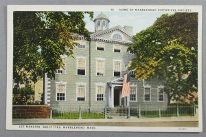 Lee Mansion, Home Of Marblehead Historical Society, MA Postcard (#6445)