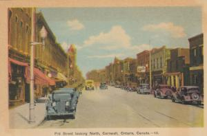 CORNWALL , Ontario , Canada , 1930s ; Pitt Street , Looking North