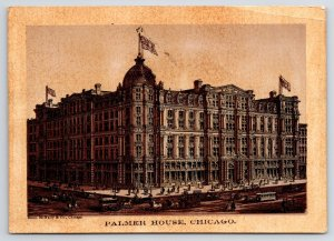 After Chicago Fire: ONLY FIREPROOF HOTEL 2nd Palmer House (Razed 1920s) 1880s TC