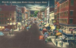 USA - Main Street at night from Market square Maine 01.63