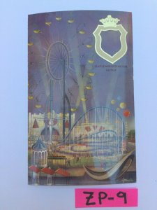 Seattle World's Fair 1962 Gayway Rollercoaster Carnival Vintage Postcard ZP-9