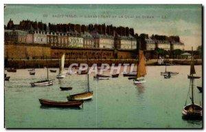 Old Postcard Saint Malo And The Avant Port Quai De Dinan