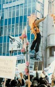 Iran, Teheran, Near Embassy, Iran Revolutionaries, President Jimmy Carter Burned