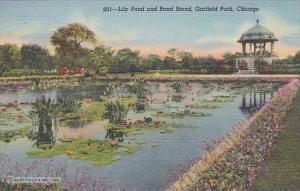 Illinois Chiacgo Lily Pond And Band Stand Garfield Park