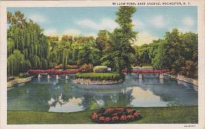 New York Rochester Willow Pond East Avenue Curteich