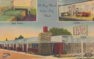 Utah Cedar City El Rey Motel South Main Street 1950 sk2638