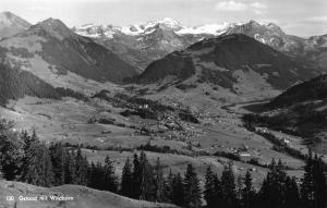 Switzerland Gstaad mit Wildhorn Village Mountains Panoramic view Postcard