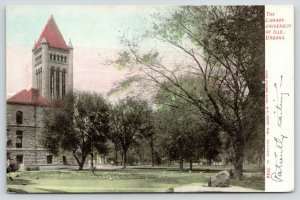 Champaign-Urbana Illinois~University of Illinois Library & Grounds~c1905