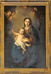 France Chenonceau La Vierge et l'Enfant attribue a Murillo
