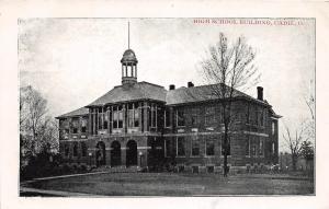 Ohio Postcard CADIZ Harrison County c1910 HIGH SCHOOL BUILDING Hanna Publisher