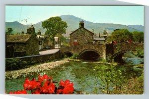 Beddgelert UK-United Kingdom, The Bridge, Chrome Postcard
