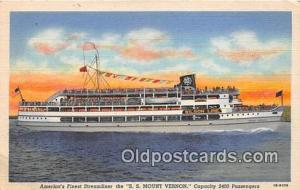SS Mount Vernon Washington DC USA Ship Postcard Post Card Washington DC USA P...