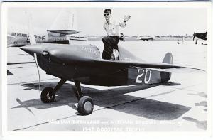 1947 Goodyear Trophy Airplane Buster Wittman Special Real Photo RPPC Postcard