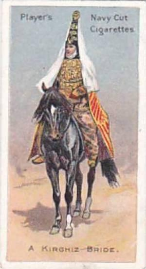 Player Vintage Cigarette Card Riders Of The World 1905 No 46 A Kirghiz Bride