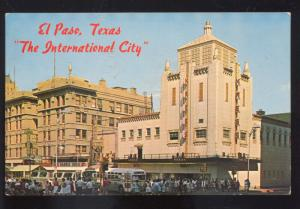 EL PASO TEXAS THE INTERNATIONAL CITY 1950's BUS ADVERTISING POSTCARD