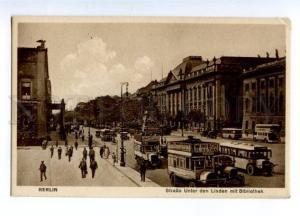 150729 GERMANY BERLIN advertising on bus Vintage postcard