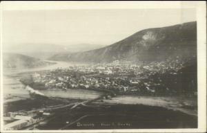Dawson Yukon Territory General View c1920 Real Photo Postcard