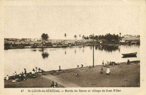 CPA AK Sénégal Afrique Saint-Louis - Bords du fleuve et village de Guet (67980)