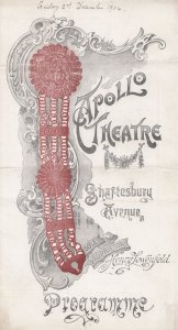 Veronique Comic Opera Apollo 1904 Theatre Programme