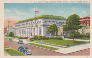 Ohio Toledo Post Office Madison Avenue and 13th Street Curteich