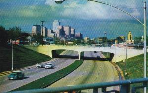 Entering Downtown Cowtown, Fort Worth, Texas, PU-1957