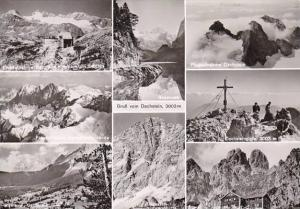Austria Gruss vom Dachstein Multi View Real Photo