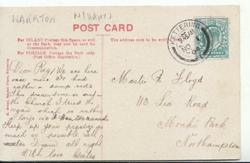 Northamptonshire Postcard - Statuary - Warkton Church - Ref 10552A